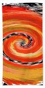 Spiral Of Fire Beach Towel