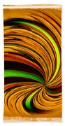 Spiral On Wood Beach Towel