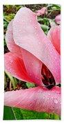 Spiral Pink Tulips Beach Towel