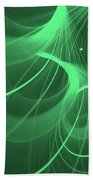 Spiral Thoughts Green Beach Towel
