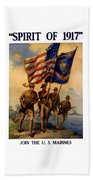 Spirit Of 1917 - Join The Us Marines  Beach Towel