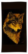 Spirit Wolf Beach Towel