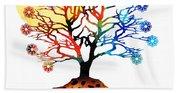 Spiritual Art - Tree Of Life Beach Towel
