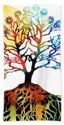 Spiritual Art - Tree Of Life Beach Sheet
