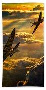 Spitfire Attack Beach Sheet