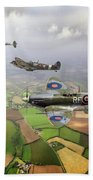 Spitfire Sweep Colour Version Beach Towel
