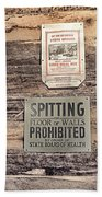 Spitting Prohibited Beach Towel