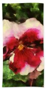 Splash Cerise Beach Towel