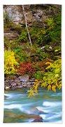 Splash Of Color Along The Creek Beach Towel