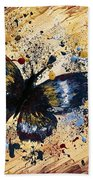 Splatter Butterfly Beach Towel