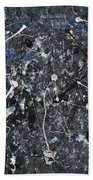 Splattered - Grey Beach Towel