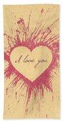 Splattered Love Beach Towel