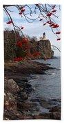 Split Rock Berries Beach Towel