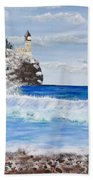 Split Rock Beach Towel