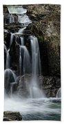 Split Rocks Falls 2 Beach Towel