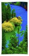 Spokane River Blues Beach Towel