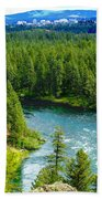 Spokane...the River And The City Beach Towel