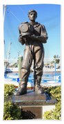 Sponge Diver Memorial Beach Towel