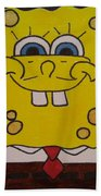 Sponge Square Yellow Brown Pants Cartoon Beach Towel