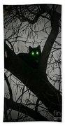 Spooky Cat Beach Towel
