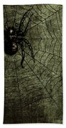 Spooky Spider Beach Towel