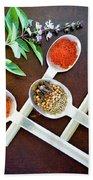 Spoons N Spices 3 Beach Towel