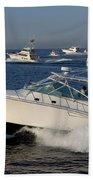 Sportfishing Boats - Cabo San Lucas Beach Towel