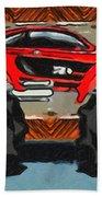 Sports Car Monster Truck Beach Towel