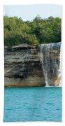 Spray Falls On The Water Beach Towel