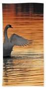 Spreading Her Wings In Gold Beach Towel