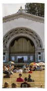 Spreckels Organ Pavilion Concert - San Diego Beach Towel