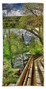 Spring At The Falls Beach Towel