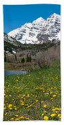 Spring At The Maroon Bells Beach Towel by Cascade Colors