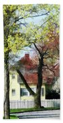 Spring Begins In The Suburbs Beach Towel
