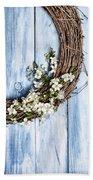 Spring Blossom Wreath Beach Towel