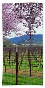 Spring Blossoms Near Calistoga Beach Towel by Charlene Mitchell