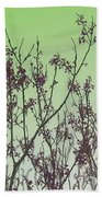 Spring Branches Mint Beach Towel