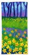 Spring Daffodils Beach Towel