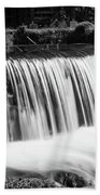 Spring Falls At Hodgson Grayscale Beach Towel
