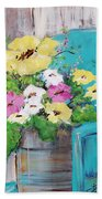 Spring Floral Beach Towel