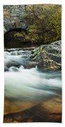 Spring Flow At Eagle Creek Beach Towel