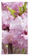 Spring Flowering Trees Art Prints Pink Flower Blossoms Baslee Beach Towel