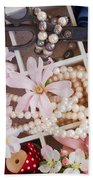 Spring Flowers Box Beach Towel