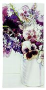 Spring Flowers With Fritillaria  Beach Towel