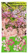 Spring Greeting With Poem Beach Towel