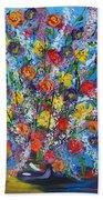 Spring Has Sprung- Abstract Floral Art- Still Life Beach Towel