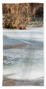 Spring Is Coming. The Ice Melts. Beach Towel
