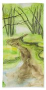 Spring Landscape, Watercolours Beach Towel