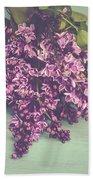 Spring Lilacs Beach Towel