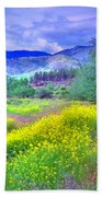 Spring Morning Along The Channel Parkway Beach Towel